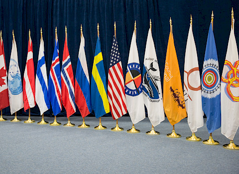 Flags of the Arctic States and Permanent Participant organizations